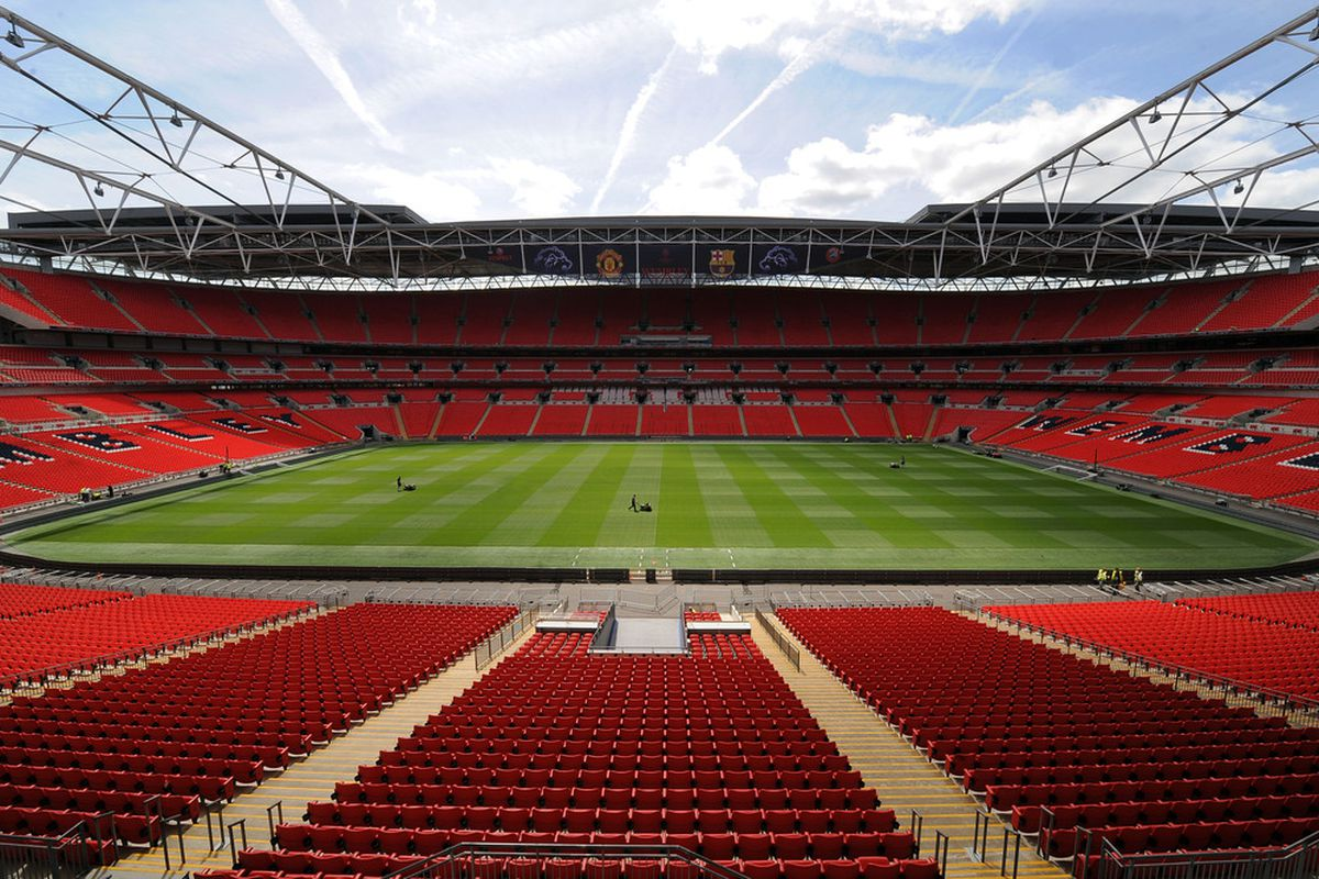 Yes, that's Wembley. Yes, we're going!!! (Photo by UEFA via Getty Images)