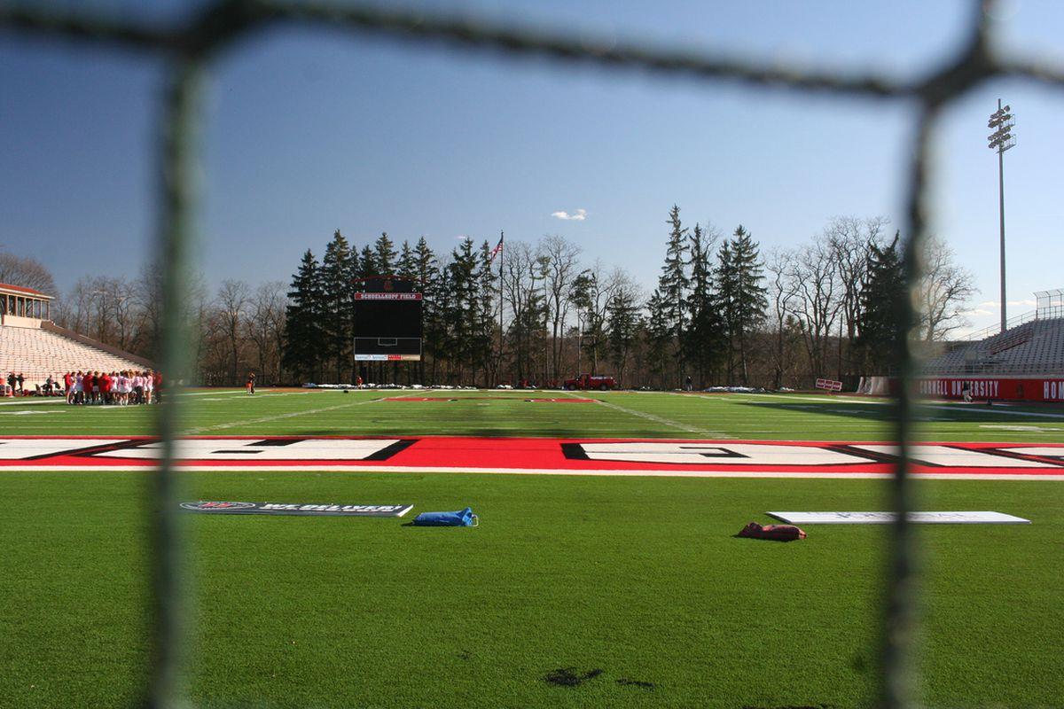 A look across Schoellkopf Field at Cornell