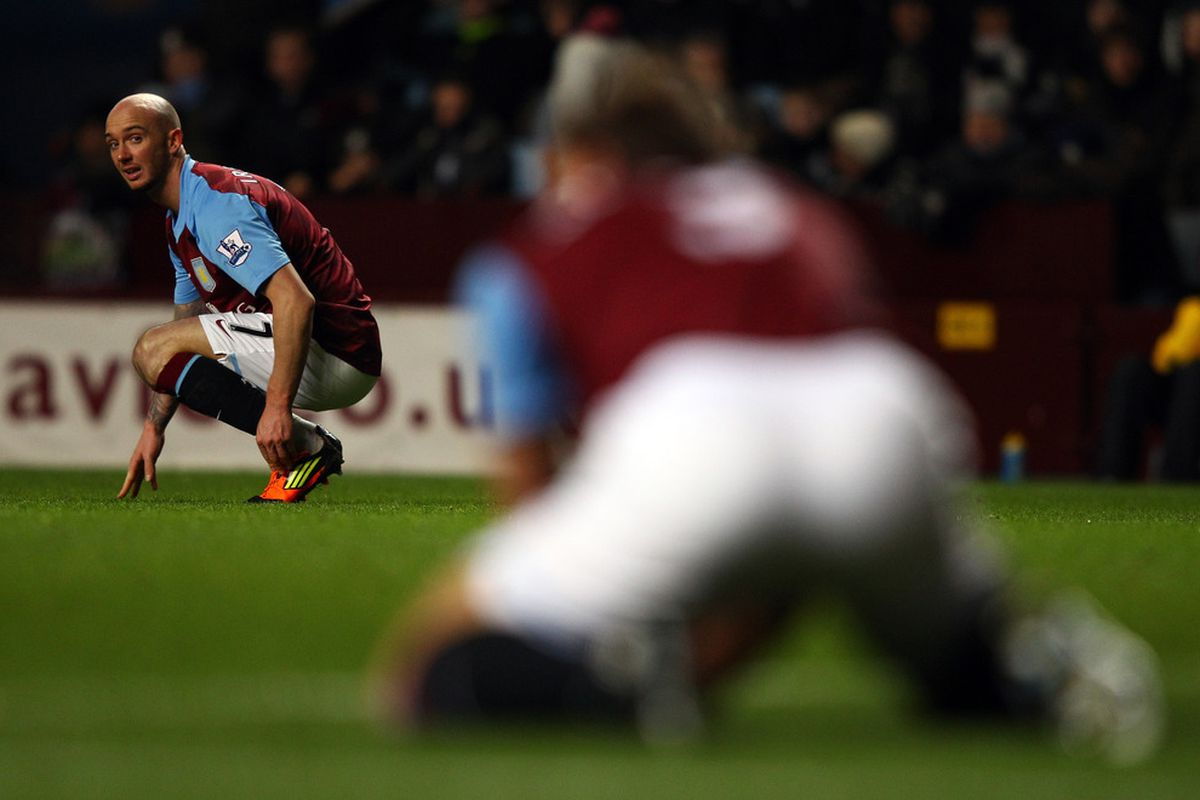 Stephen Ireland contemplates whether or not he is in need of wings.  (Photo by Richard Heathcote/Getty Images)