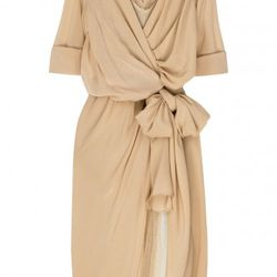Donna Karan tulle and georgette draped dress, $374.25 (orig. $2,495)