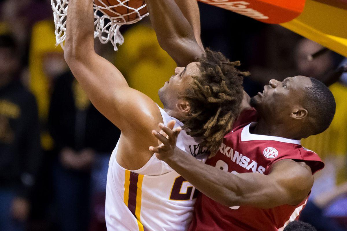 NCAA Basketball: Arkansas at Minnesota