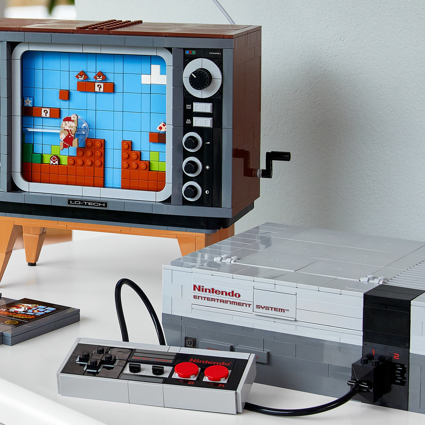 Lego Made A 2 600 Piece Replica Of Playing Mario On The Nes The Verge