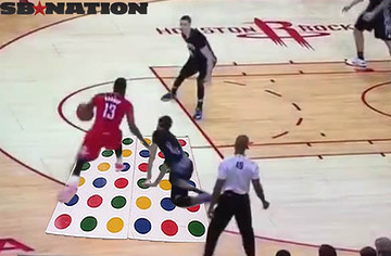 0824af0b0d2b Harden s night wasn t just this one cross -- he finished with 31 points