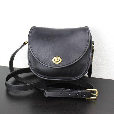A vintage black purse
