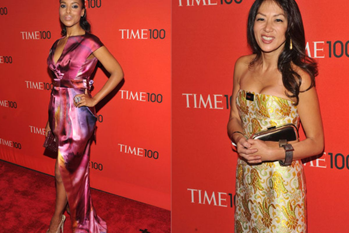 """When Kerry Washington and Tiger Mom Amy Chua are two of the best dressed people in the room, you know you are in trouble. Images via <a href=""""http://www.thefrisky.com/post/246-the-good-the-bad-the-ugly-celebs-at-the-time-100-gala/"""">the Frisky</a>"""
