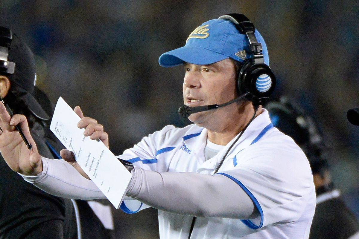 Coach Mora had few answers for Stanford or for the media.