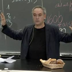 """<a href=""""http://eater.com/archives/2012/12/13/watch-ferran-adrias-harvard-lecture-on-la-bullipedia.php"""">In His Harvard Talk, Ferran Adrià Shows Off La BulliPedia</a>"""