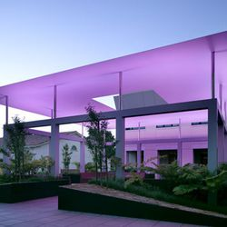 """<a href=""""http://www.pomona.edu/museum/collections/james-turrell-skyspace.aspx""""><b>James Turrell Skyspace</b></a> (330 N College Ave): Located in the Draper Courtyard at Pomona College's Museum of Art, this is the only Turrell Skyspace available for public"""