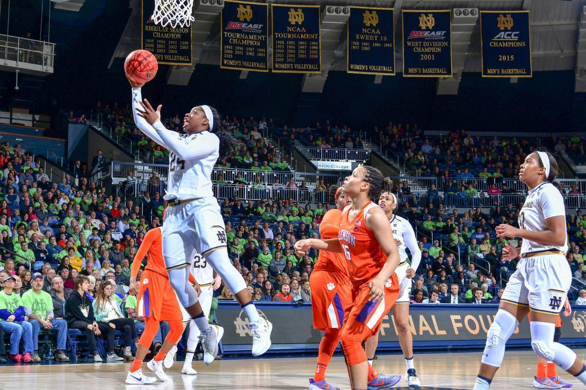 NCAA Womens Basketball: Clemson at Notre Dame