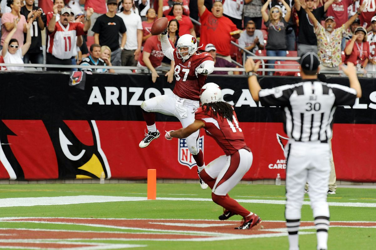 Jeff King scored a 48-yard touchdown against his former team. King's TD was the longest reception of his career--both pro and collegiate.
