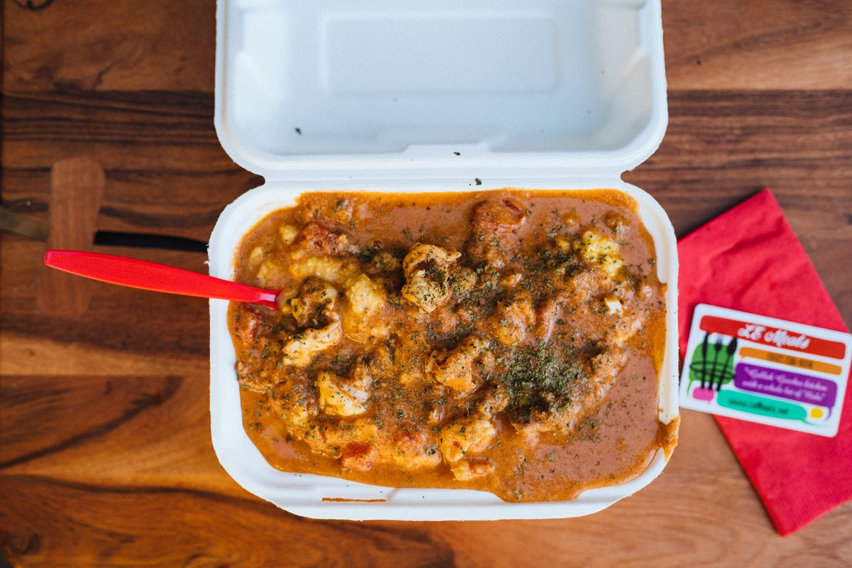 The NOLA shrimp and grits from L.E. Meals
