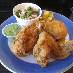 """Fried chicken lunch special at Wing Wings by <a href=""""http://www.flickr.com/photos/foodiehunter/6356191479/in/pool-520531@N21"""">foodiehunter</a>."""