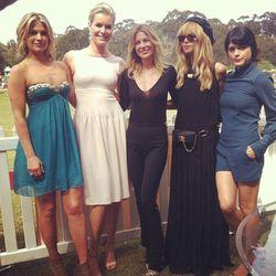 From left: Ali Larter, Rebecca Romijn, Ellen Pompeo, Rachel Zoe, Selma Blair