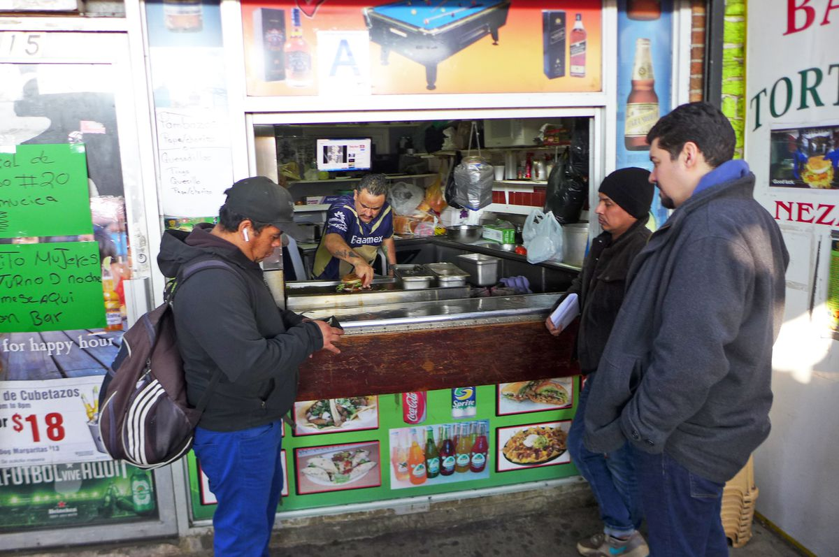 Galdino Molinero makes tortas and pambazos right on Roosevelt Avenue.