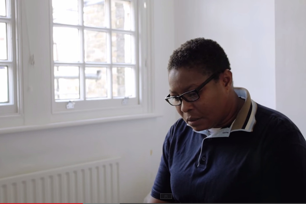 Aderonke Apata during a 2014 interview with Novara Media about her experience with the asylum system
