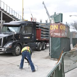 Steel delivery for right field -