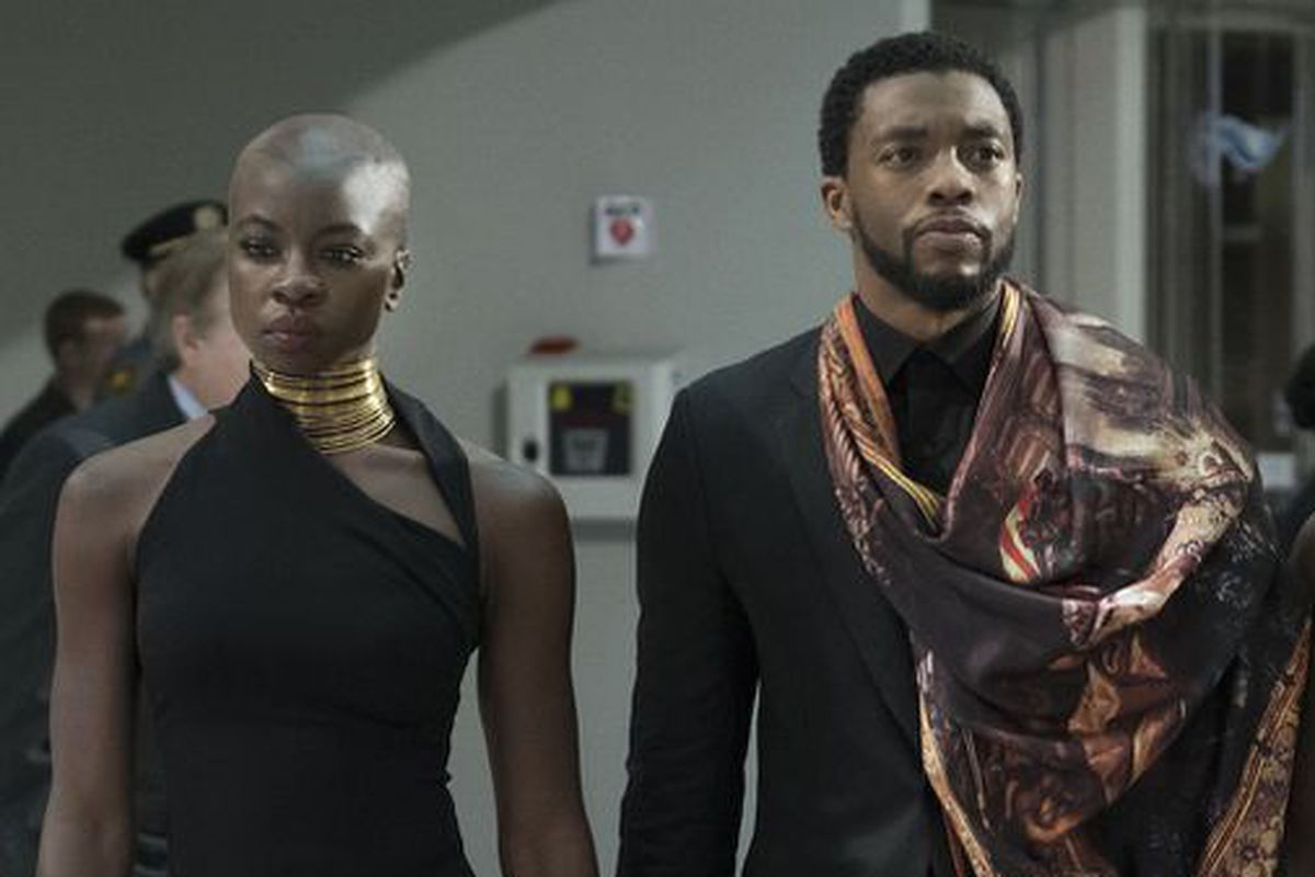 Danai Gurira and Chadwick Boseman