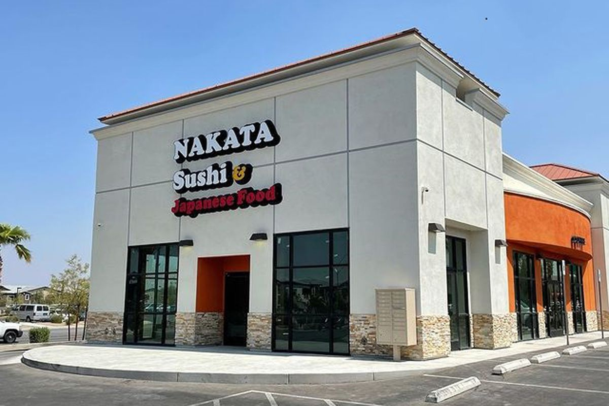 A rendering of the signage outside Nakata Sushi & Japanese Food, coming this fall to Silverado Ranch.