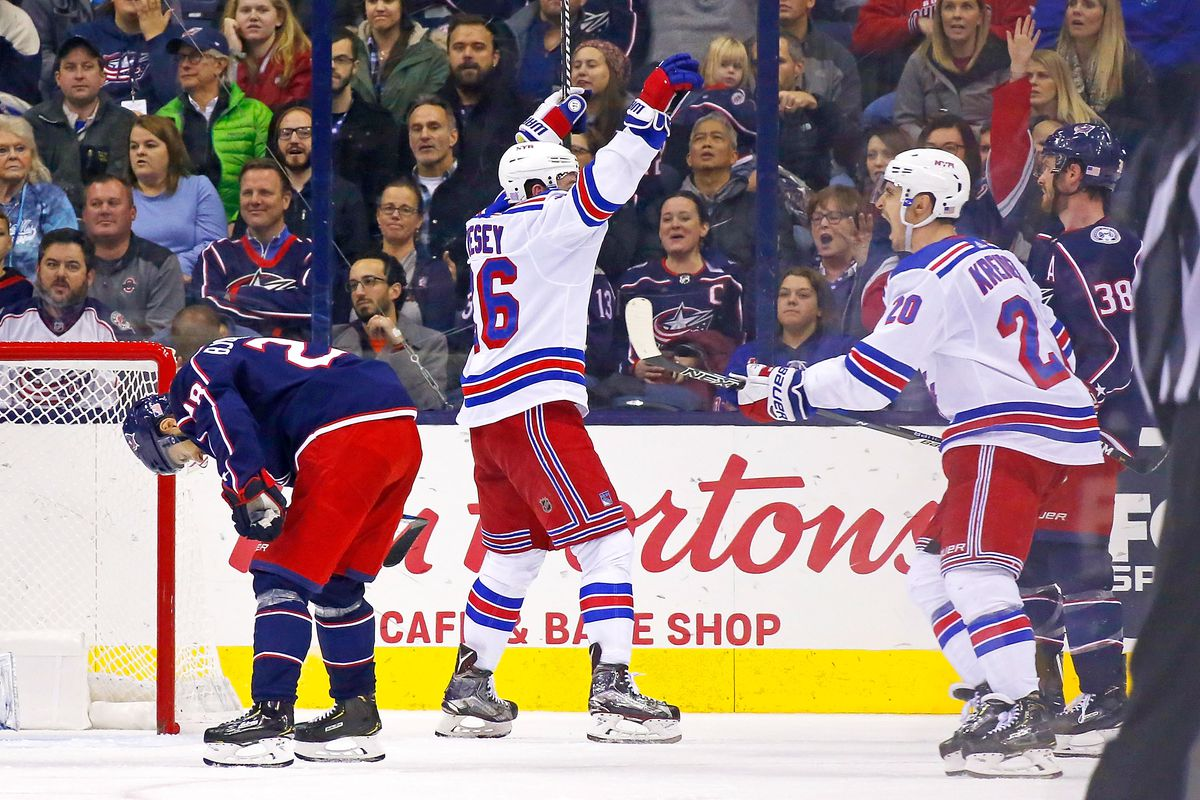 rangers vs blue jackets rangers top jackets remain undefeated in