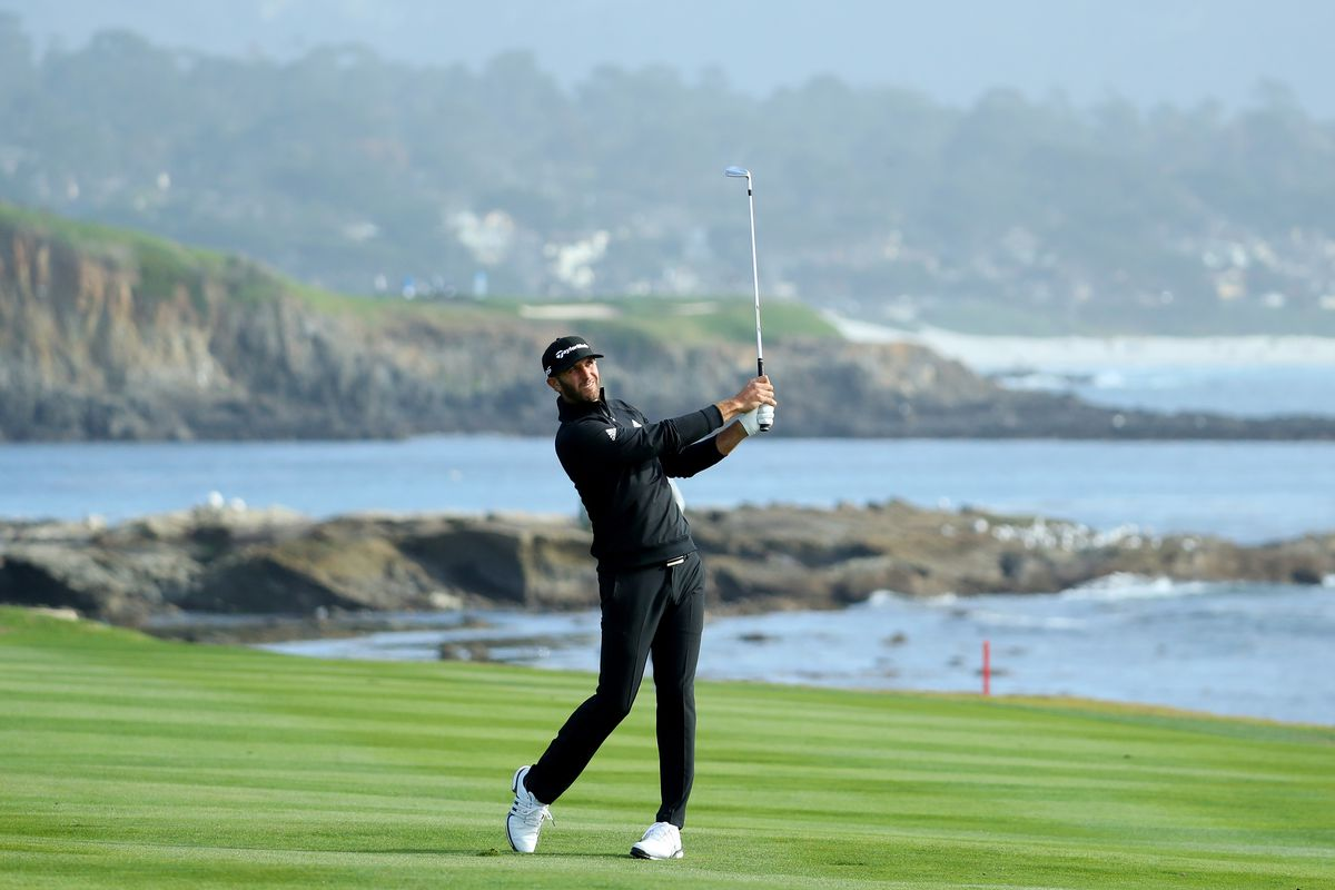 Pebble Beach Pro-Am: Dustin Johnson shares lead as Rory McIlroy five-putts