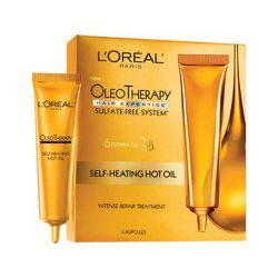 """<strong>L'Oreal Paris</strong> Oleo Therapy Self Heating Hot Oil Intense Repair Treatment, <a href=""""http://www.target.com/p/l-oreal-paris-new-oleo-therapy-self-heating-hot-oil-intense-repair-treatment/-/A-14896096#prodSlot=medium_1_0&term=l%27oreal%20hot%"""