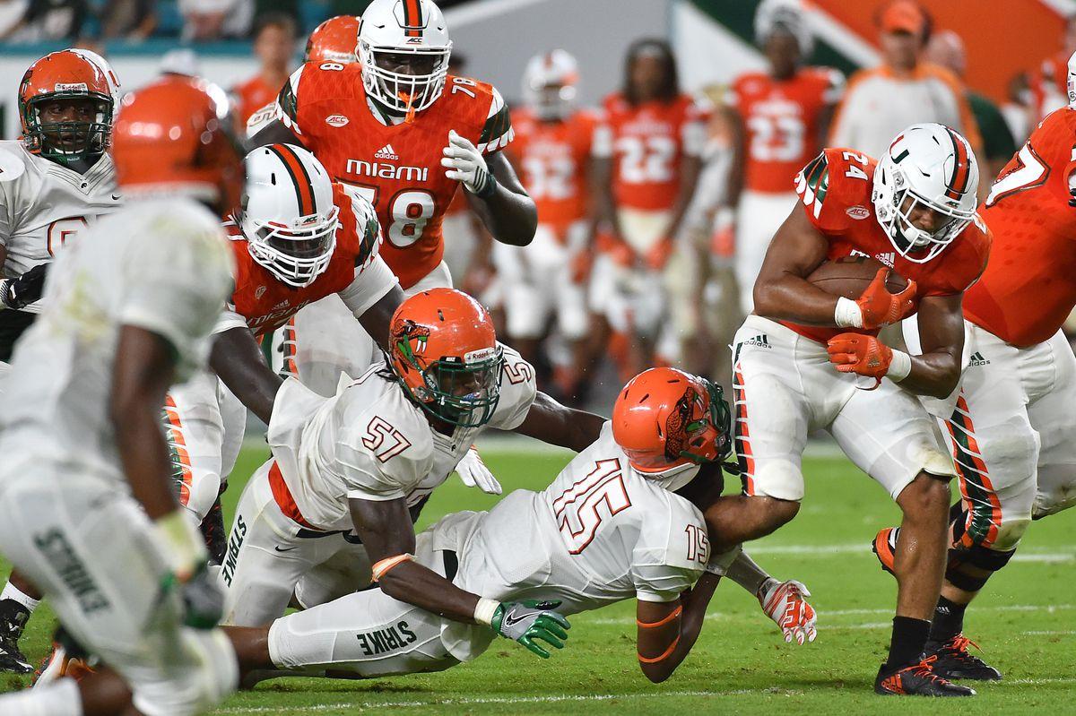 NCAA Football: Florida A&M at Miami