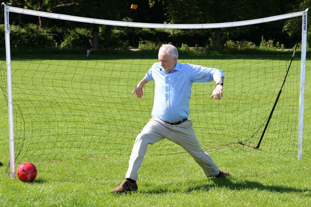 Jeremy Corbyn Campaigns On Hackney Marshes