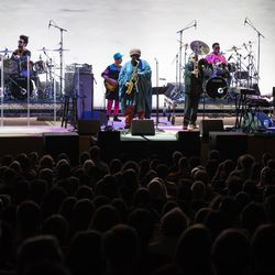 Kamasi Washington performs at Midwinter Fest, Feb. 16, 2019. | Max Herman/For the Sun-Times
