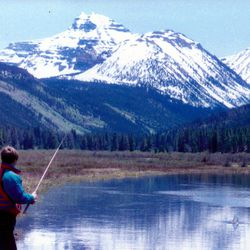 Young David Phillips fishing in the 1990s at Christmas Meadows, Utah where the Phillips family has been fishing and camping for five generations.
