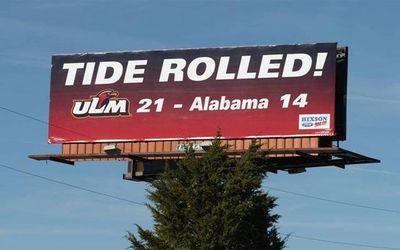 ulm rolled  1  - Saints fan's Atlanta billboard the latest in a Louisiana tradition