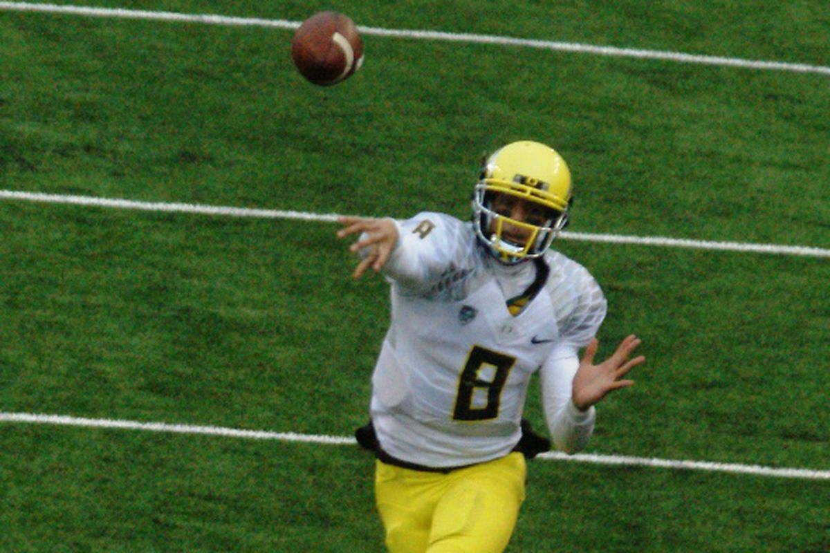 Oregon has a Heisman Trophy candidate at quarterback in Marcus Mariota, but zero experience behind him this season. That hasn't been a big problem the last couple times the Ducks have faced a QB change; is it a cause for concern now?