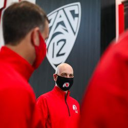 New Utah men's basketball coach Craig Smith tours the Ute practice facilities on March 27, 2021.