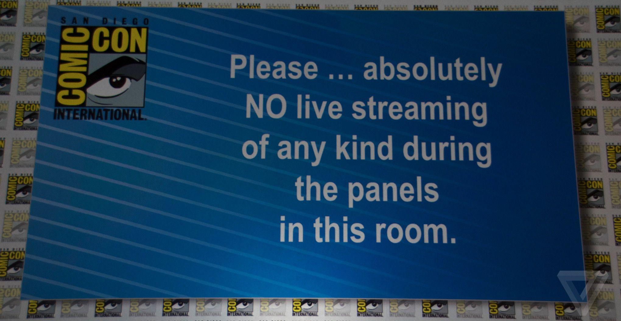 San Diego Comic-Con no streaming sign