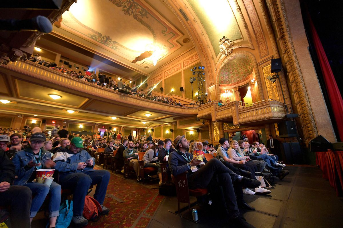 The audience at a SXSW film