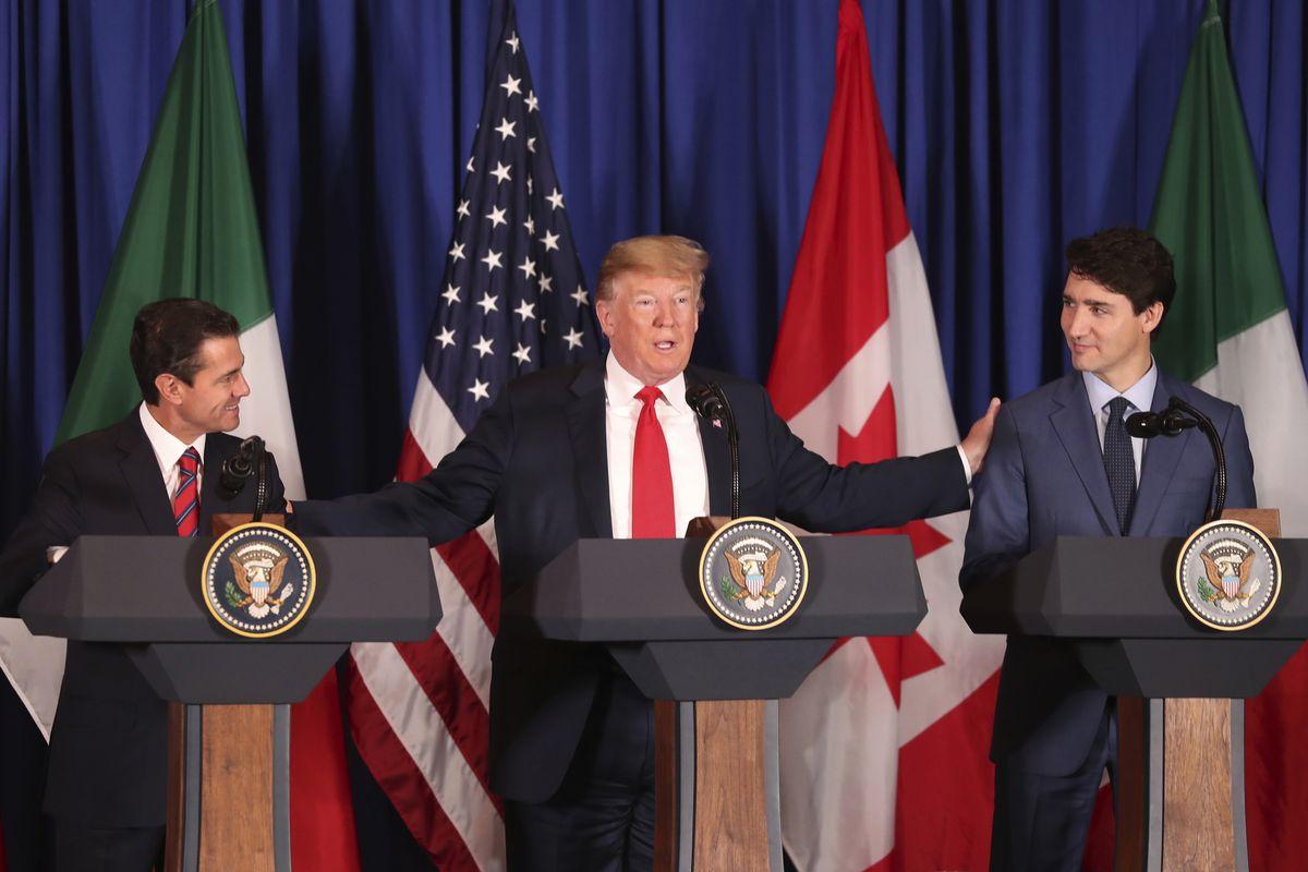 Hasil gambar untuk President Trump Signs NAFTA Replacement Deal with Mexico, Canada