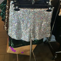 Sequined shorts, size 0, $25 (was $128)