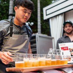 Deuki Hong has mastered the art of the soju shot.