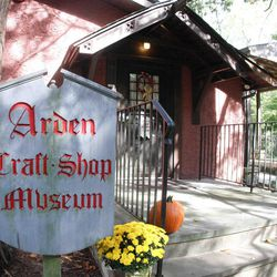The outside of the Arden Craft Shop Museum in Arden, Del. is shown, on Sunday, Oct. 14, 2012.  The museum has developed a self-guided walking tour of the community that was launched this month along with its annual exhibit.