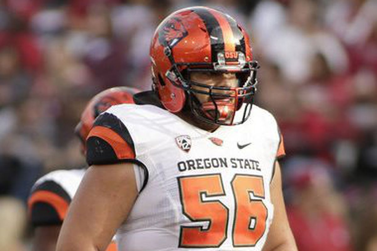 Isaac Seumalo was Oregon State's best offensive lineman when healthy the last several seasons, but is moving on.