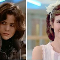 <b>The Breakfast Club:</b> Ally Sheedy's end-of-movie goth to prep transformation courtesy of Molly Ringwald was definitely...something. We might prefer the before on this one.