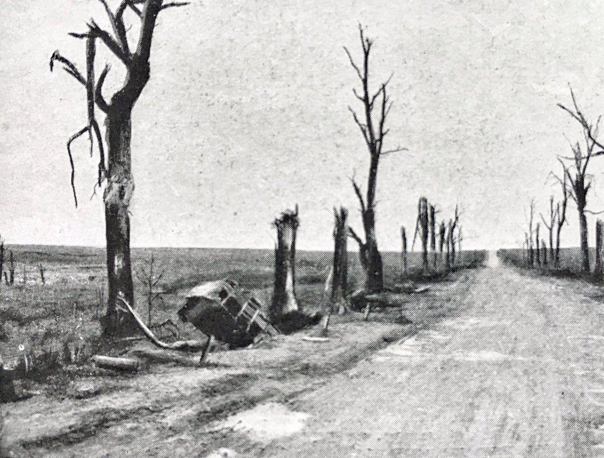 Barren roads went through the zone rouge
