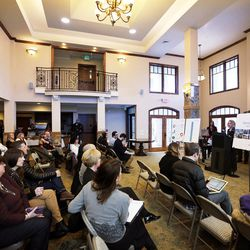Mayor Jackie Biskupski speaks in Salt Lake City on Thursday, Feb. 2, 2017, as Growing SLC: A Five-Year Plan 2017-2021 is launched.
