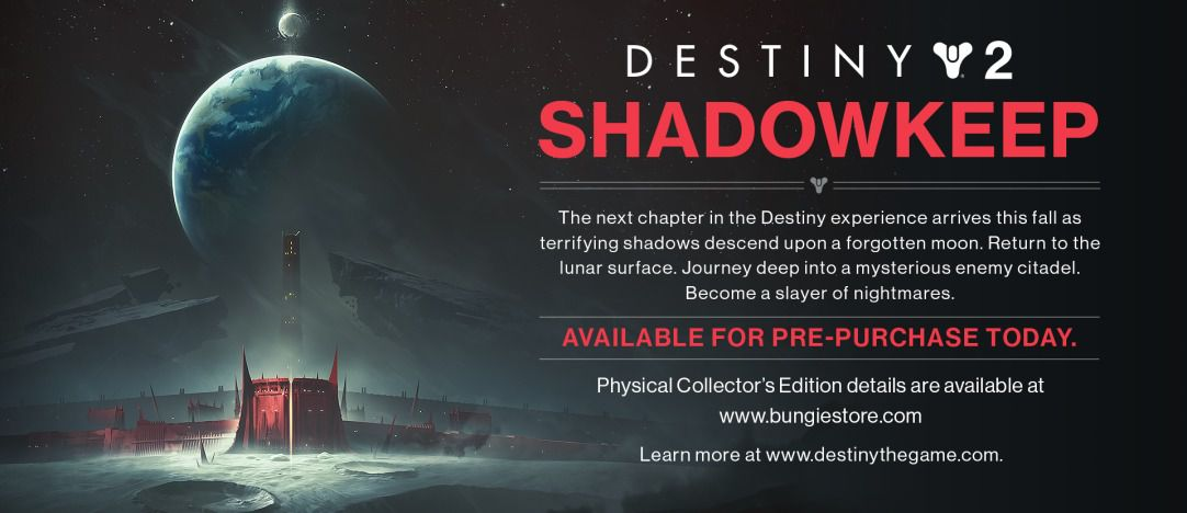 Next Destiny 2扩展是Shadowkeep,设置在月球上