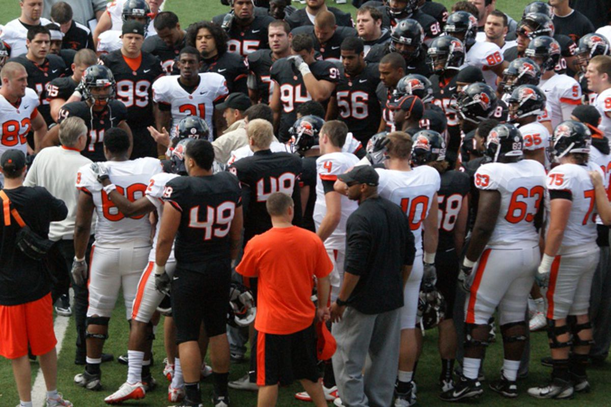 Oregon St.'s spring practice schedule will begin April 1, and conclude with the spring game Friday night April 26 at 7 PM.
