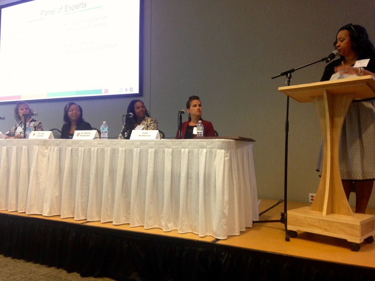 Panelists (left to right): Kristy Ford of Bartlett, Jerri Jackson of Millington, DeAnna McClendon of Shelby County Schools and Katie McPherson of The Achievement School District.