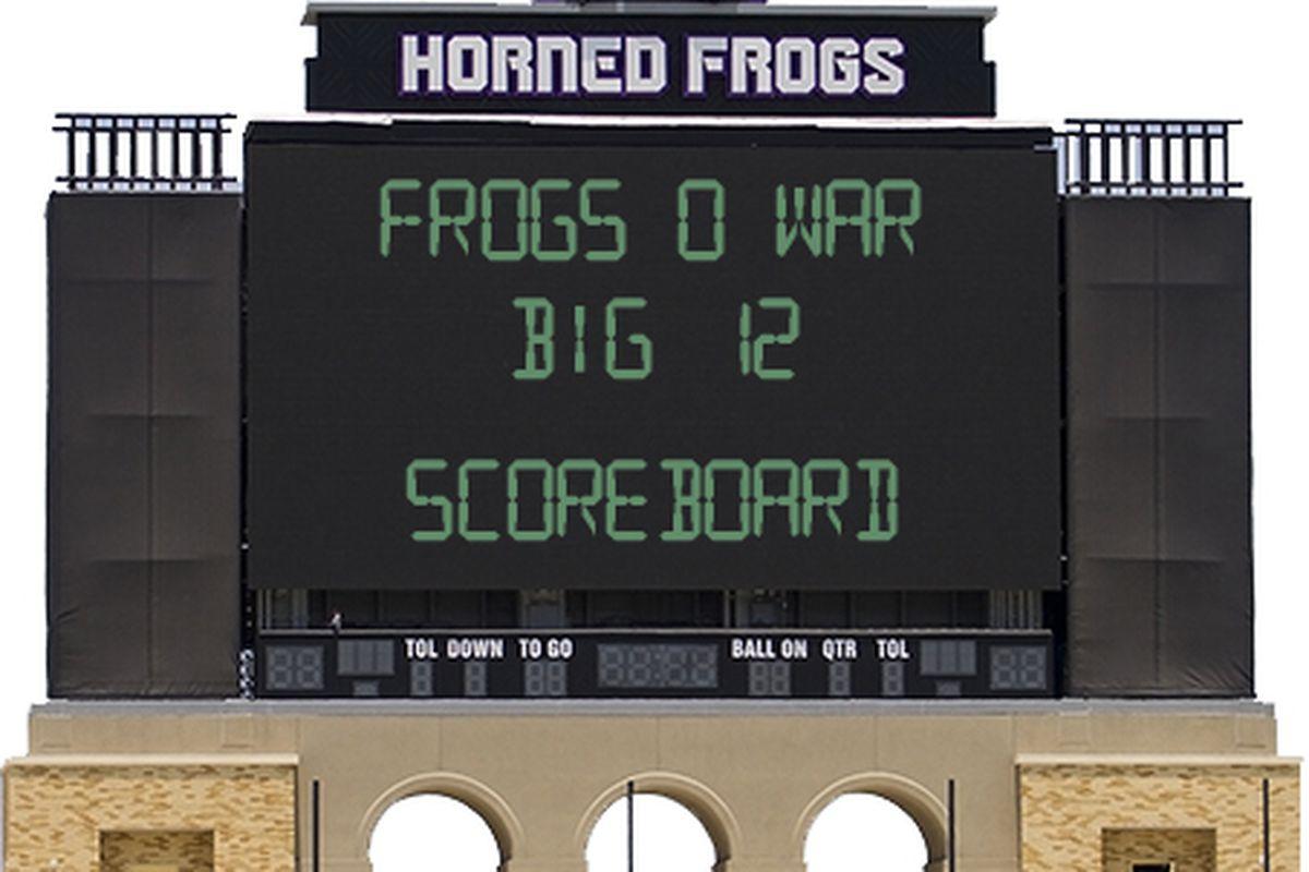 Few thins pain a TCU fan more than looking at a scoreboard.