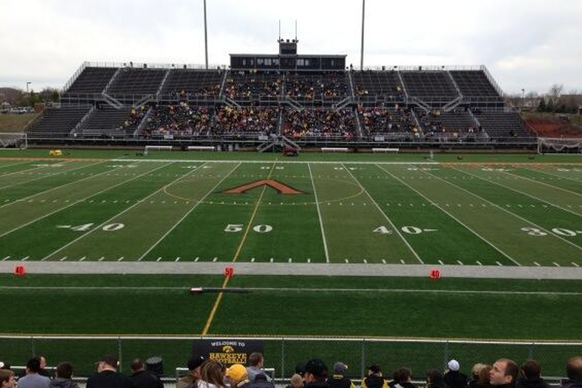 Valley Stadium an hour prior to practice starting.