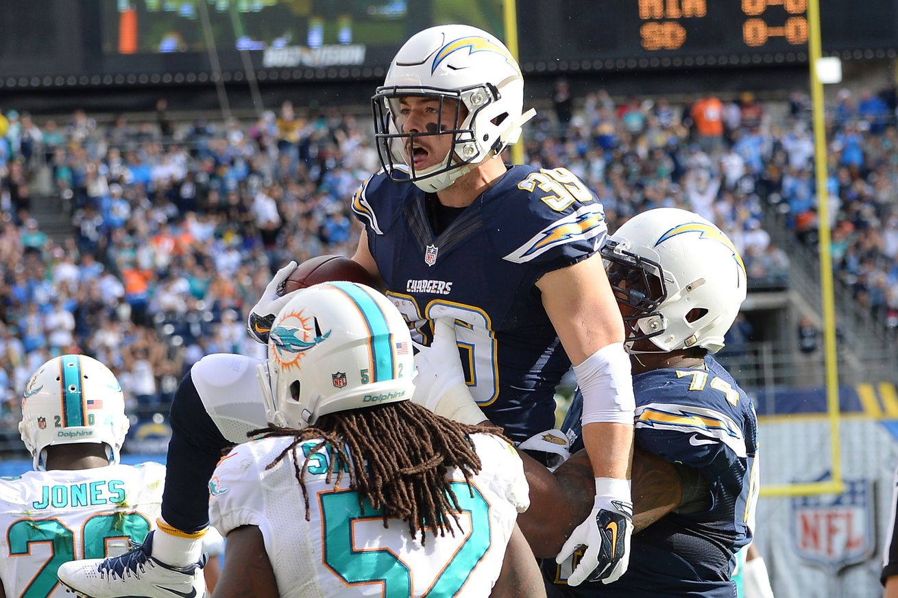 How much will the Chargers miss Danny Woodhead?