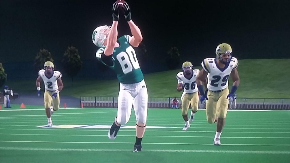 Jerrid Marhefka reels in a backshoulder throw for a 40-yard touchdown.