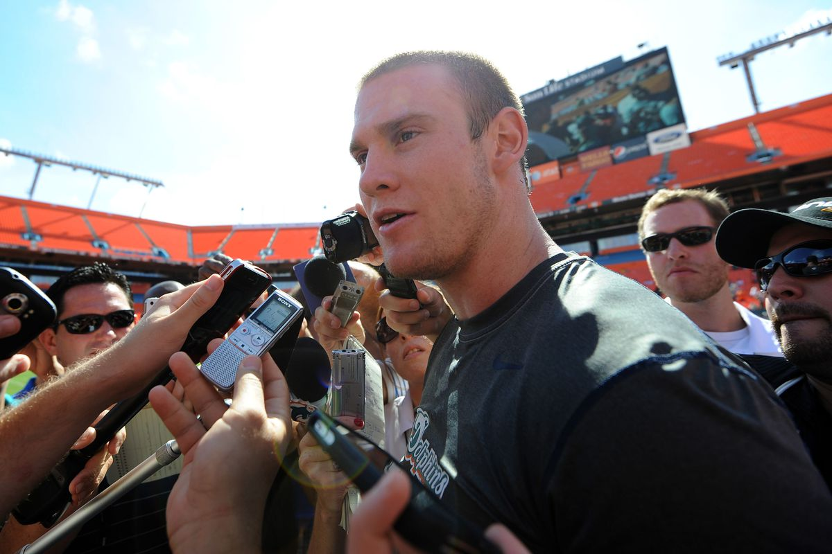The future face of the MIami Dolphins, rookie quarterback Ryan Tannehill, officially became the current face of the Miami Dolphins today.